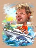 Шарж на яхте в Австралии
