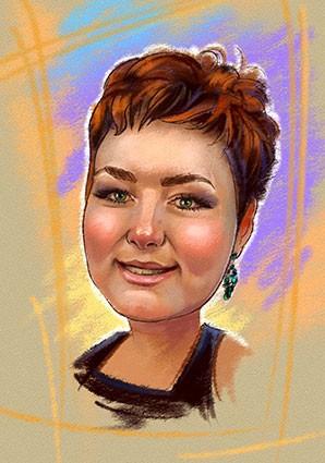 Шарж-портретик на коллегу по работе