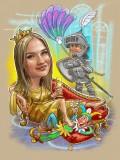 шарж царица