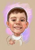 Рисунок-шарж, веселый мальчик